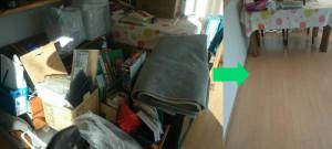 高知市の1軒家で軽トラックパックで回収の写真1
