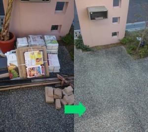 高知市の1軒家で軽トラックパックで回収の写真2