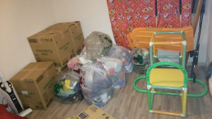 南国市でおもちゃ、ソファなど回収ビフォー写真