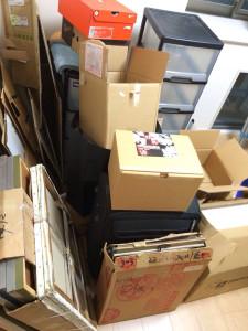 高知市で倉庫内の不用品回収の写真