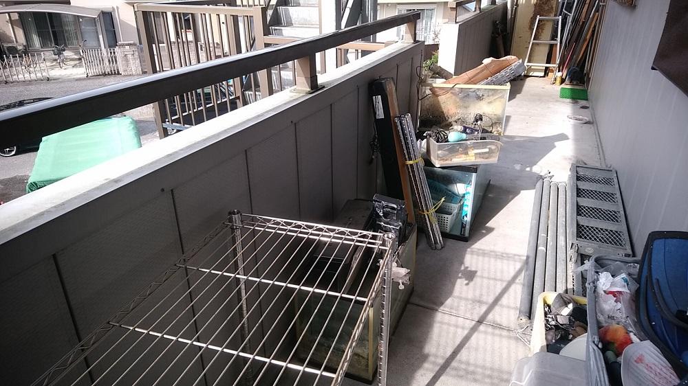 土佐市で不用品(ソファーベッド、スチール棚、水槽など)処分ご依頼 お客様の声
