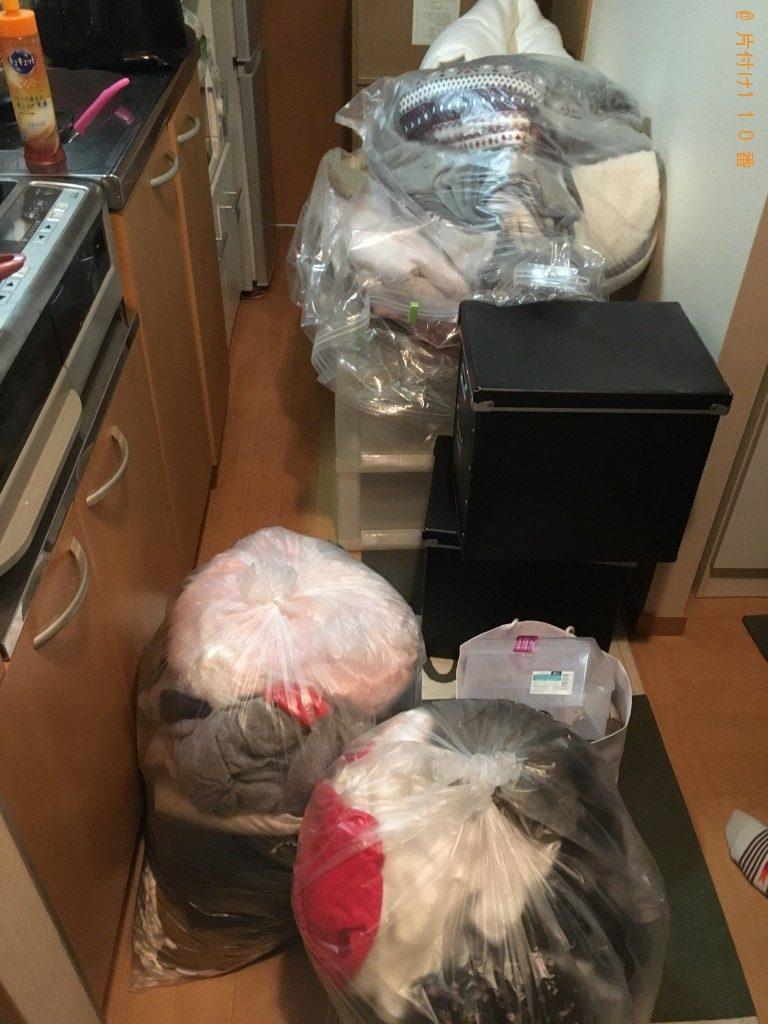 【馬路村】カラーボックス、布団、分別なし衣類の回収・処分ご依頼