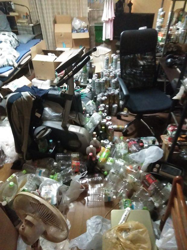 【仁淀川町】アパート1室分のごみの回収☆大量のごみで埋め尽くされていたお部屋がきれいに片付き、お喜びいただけました!