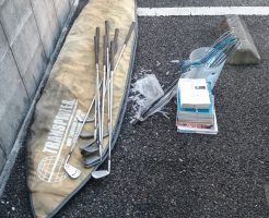【高知市】サ-フボ-ドやゴルフクラブなど不用品の回収☆引っ越し前に処分できご満足いただけました!