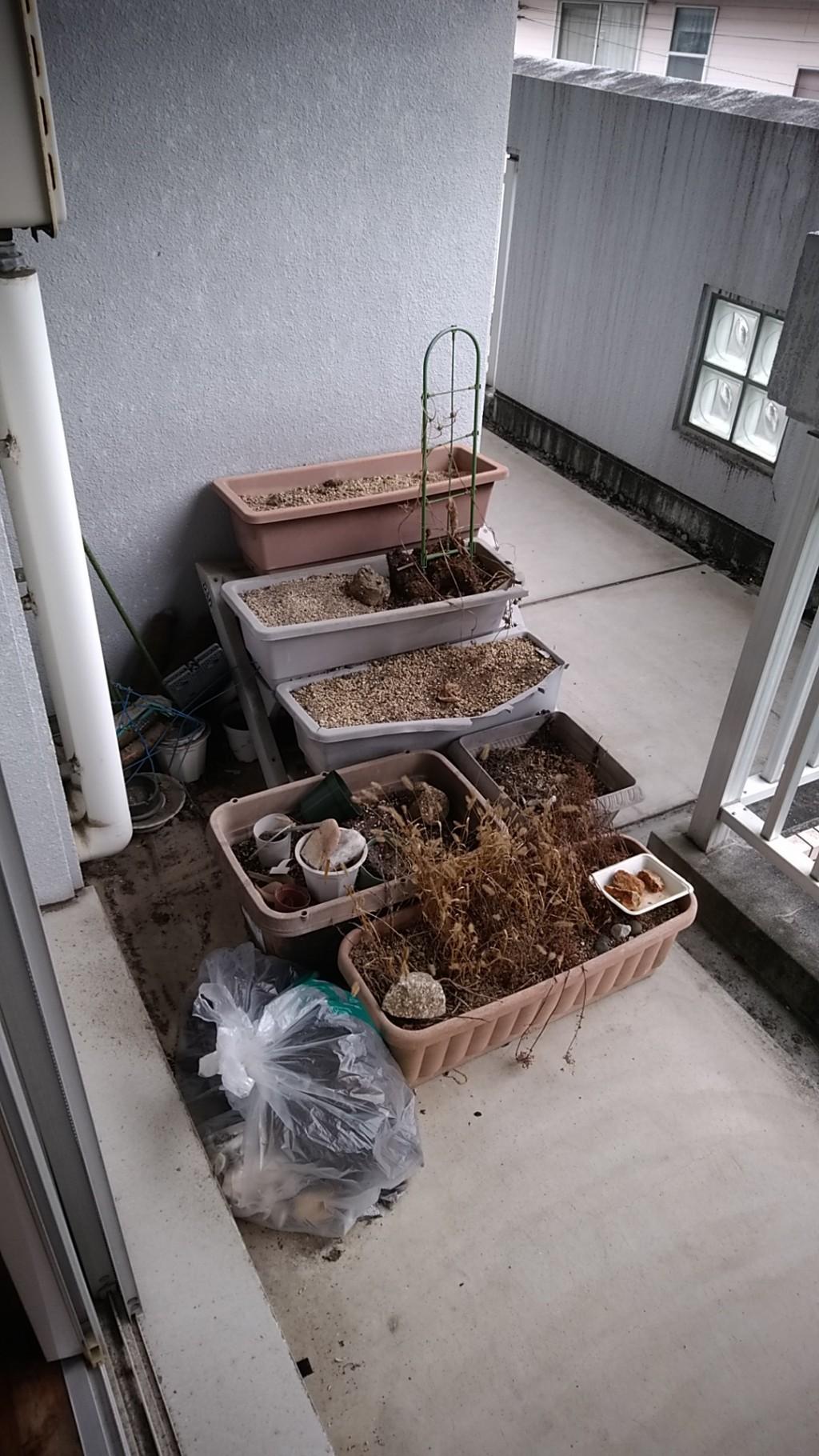 【高知県津野町】ベランダのゴミとハウスクリーニングのご依頼 お客様の声
