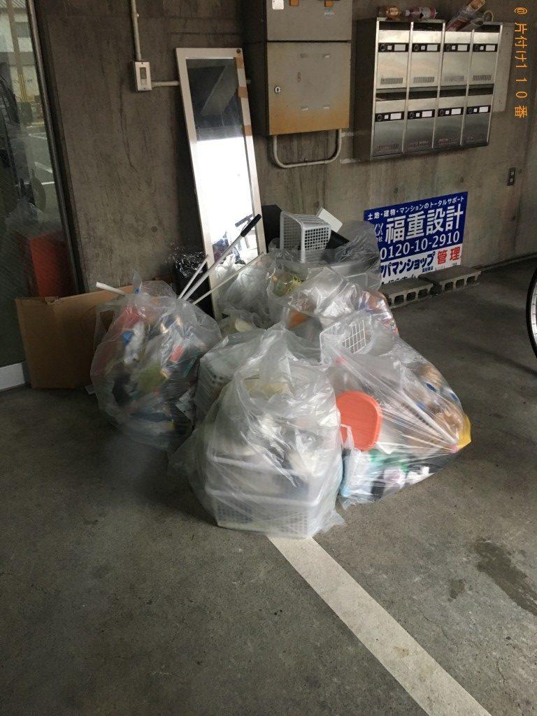 【田野町】スタンドミラー、メタルラックの板の回収・処分