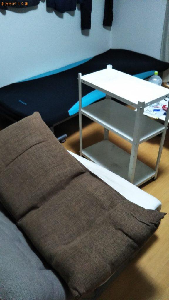 【品川区】遺品整理でソファー、3段ストッカー等の回収・処分ご依頼