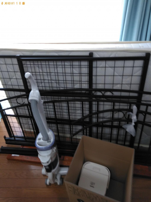 【高知市廿代町】シングルベッド、ベッドマットレスの回収・処分
