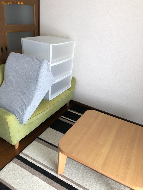 【高知市】こたつ、食器棚、二人掛けソファー、テレビ台の回収・処分