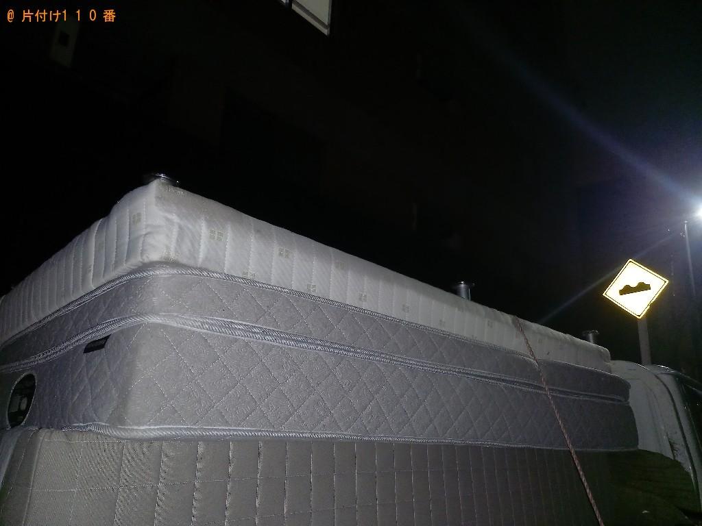 【高知市】マットレス付きセミダブルベッドの回収・処分ご依頼