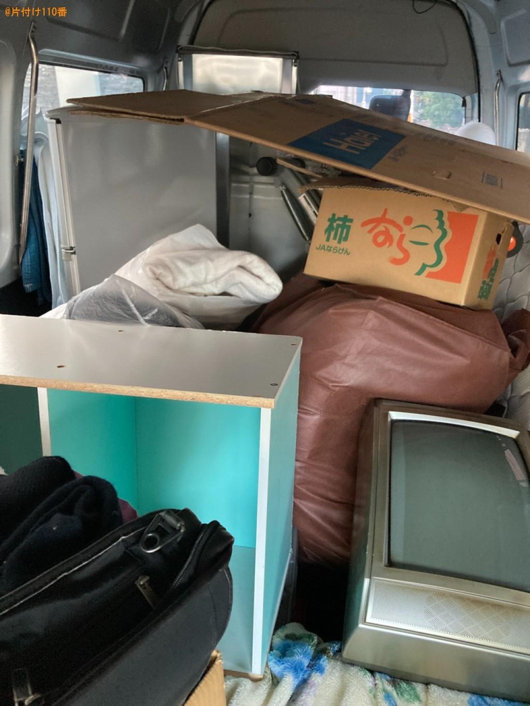 マットレス付きシングルベッド、アイロン、布団、衣類等の回収・処分